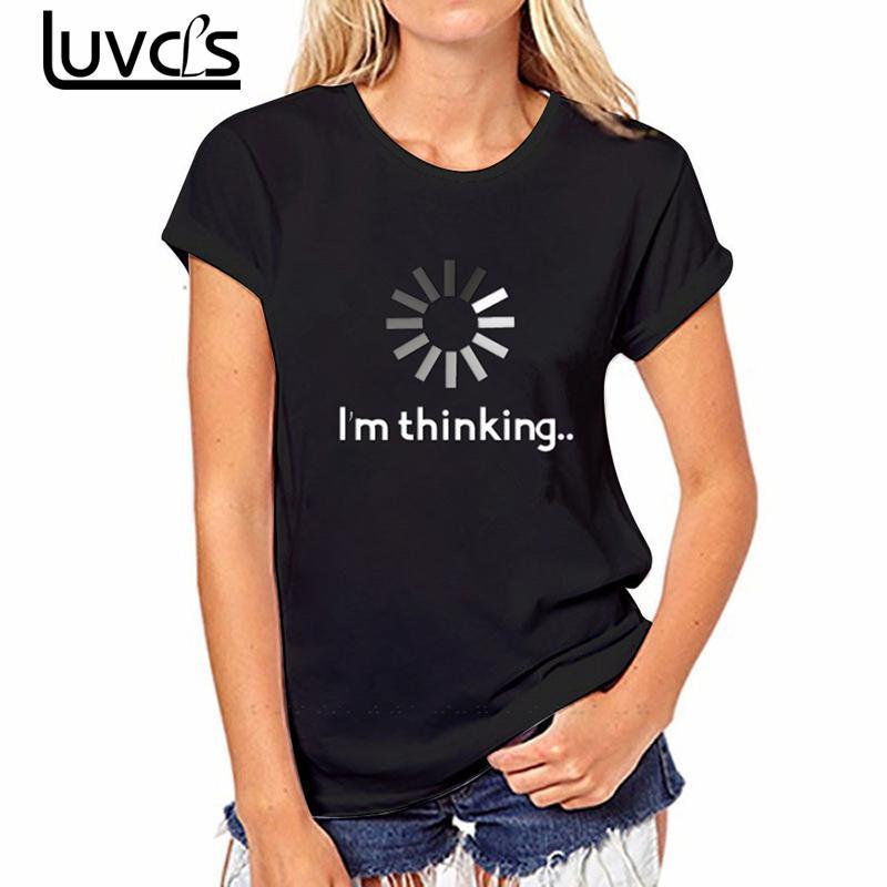 LUVCLS Harajuku T Shirt Women Summer 2017 Punk Letter Short Sleeve Funny T shirt Casual Cheap