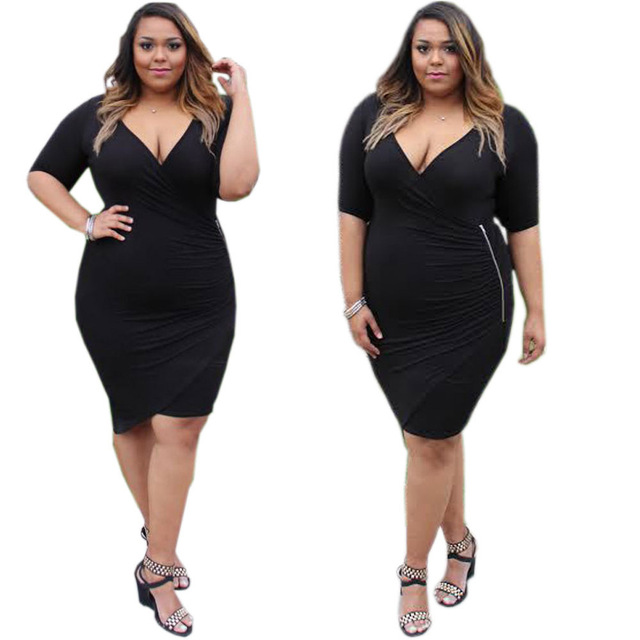 Plus Size Sexy Dresses Cleavage