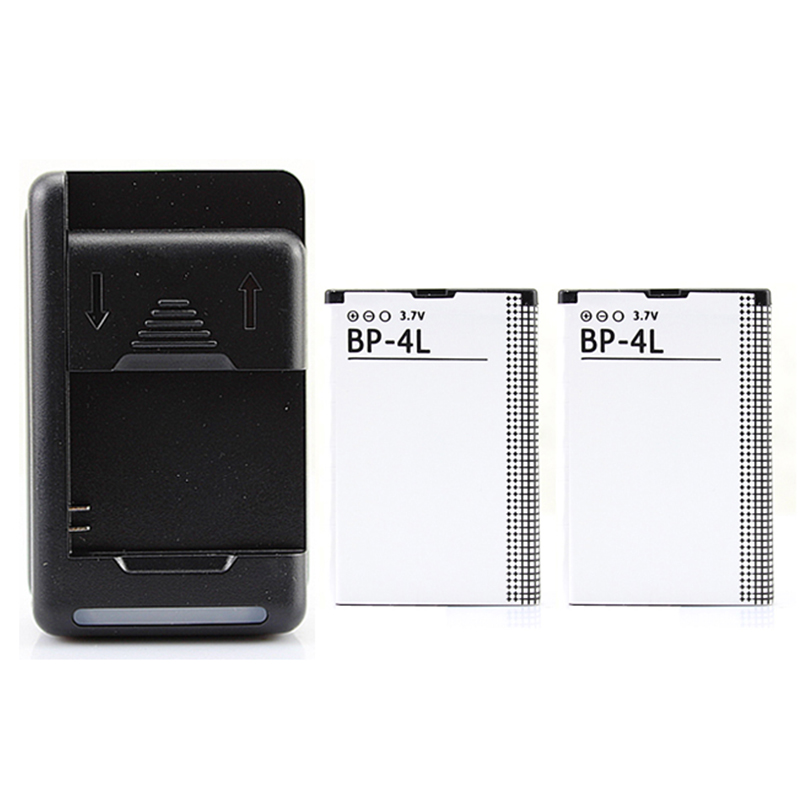 1500mAh BP-4L Backup Phone Battery with USB Charger For Nokia E61i E63 E90 E95 E71 6650 6760 N97 N810 E73 E72 E52 E55 Battery image