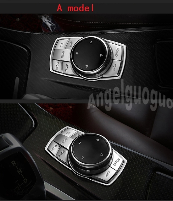 4e6527600b3a car multimedia control buttons decorative sticker Fit for BMW x1  x3 x4 x5 x6 1 series 2 series  3 series  5 series
