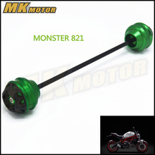 Free shipping For DUCATI MONSTER 821 2014 2015  CNC Modified Motorcycle Front and rear wheels drop ball / shock absorber
