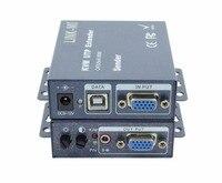 Link ми lm k101tru 100 м USB KVM Extender VGA и USB по cat5e/6 кабель utp HD Трансмиссия расстояние сигнал Лупа 100 метров