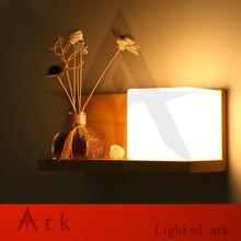 купить Modern Wooden LED Wall Lamp Bed Room Bedside Natural Solid Wood white Glass Bedroom Bedside Aisle Corridor Entrance Wall Sconce по цене 3695.89 рублей