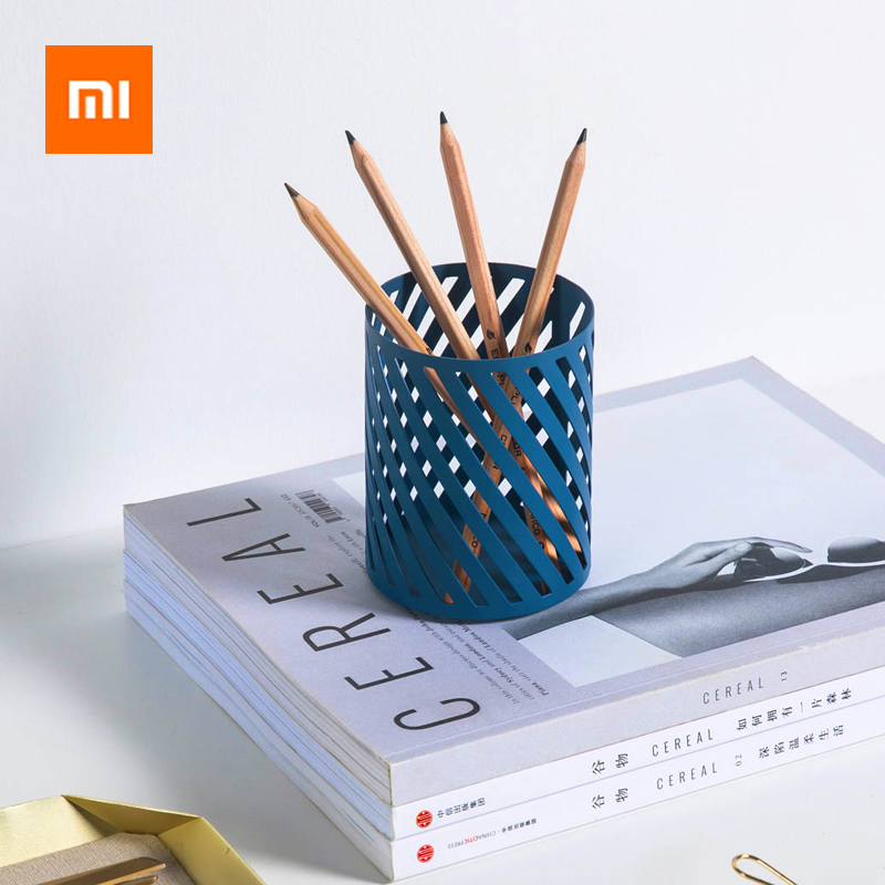 Xiaomi Hollow Cylinder Pen Holder Office Organizer Desktop Pens Makeup Brushes Holder Storage Box Pot Container For Office/Home
