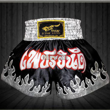 New Arrival 2015 MMA Fighting Shorts Silver Flame Muay Thai Shorts Boxing Pants Men's Sport Clothes S-XXXL Boxeo Wholesale