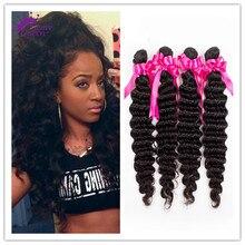 Top Malaysian Curly Hair Weave 4Pieces 7A Malaysian Virgin Hair Deep Curly Deep Wave Unprocessed Human