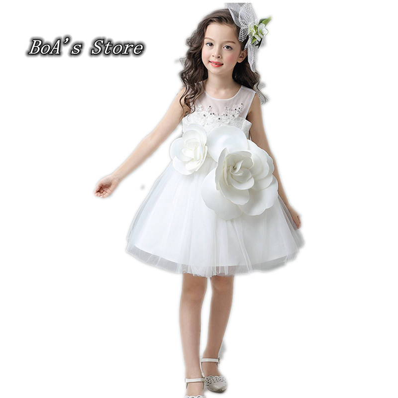 3 Layers Tulle Baby Dresses For Girls Clothes Girls Dress With Vintage Floral Summer Party Wedding Special Flower Princess Kids summer 2017 new girl dress baby princess dresses flower girls dresses for party and wedding kids children clothing 4 6 8 10 year