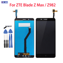 6.0 inch For ZTE Blade Z Max Z982 LCD Display+Touch Screen Screen Display Digitizer Assembly Replacement For ZTE Z982 Black new 5 inch full lcd display touch screen digitizer assembly replacement for zte blade x5 blade d3 t630 free shipping