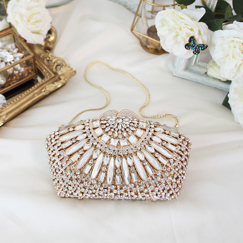 Women Clutch Party Purse Society Gathering Handbags Luxury Diamond Dressing Banquet Elegant Evening Dress Bags Frame-in Clutches from Luggage & Bags    1