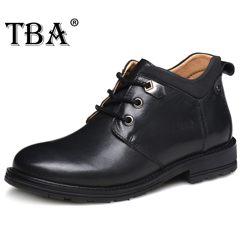 TBA 5858# New High Quality Men's Martin Boots Cow Split Upper Outsole Male Ankle Boots British Cool Style Boots Walking Shoes fall trendboots in europe and america heavy bottomed martin boots british style high top shoes shoes boots sneakers