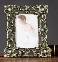 6 inch metal photo frame with diamond pearl wedding home family