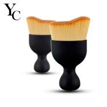 YANSH Contour Foundation Brush S Shape Cream Makeup Brushes Loose Powder Brush Multifunctional Make Up Brushes With Protect Lid