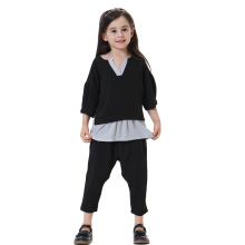 Arab Girls Clothing Muslim Tops and pants Sets Children`s