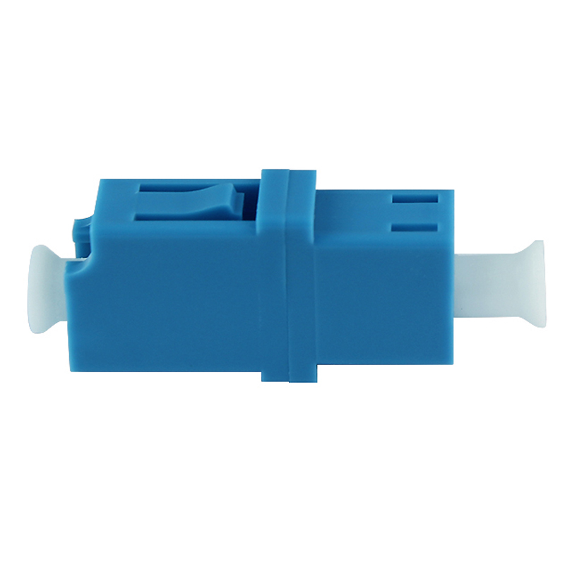 50PCS/lot Simplex Singlemode LC-LC adapter flange connector optical fiber coupler LC/UPC Singlemode Simplex Adapter