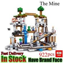 Lepin Minecraft 922 Unids La Mina Mi mundo Figura Niños Educativos Bloques de Construcción de Ladrillos de Juguetes Para Los Niños Regalo