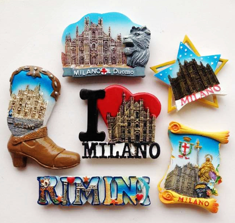 Italy Milan Alphabet Series 3D Fridge Magnet World Tourism Souvenirs Refrigerator Magnetic Stickers Creative Home Decoration ...