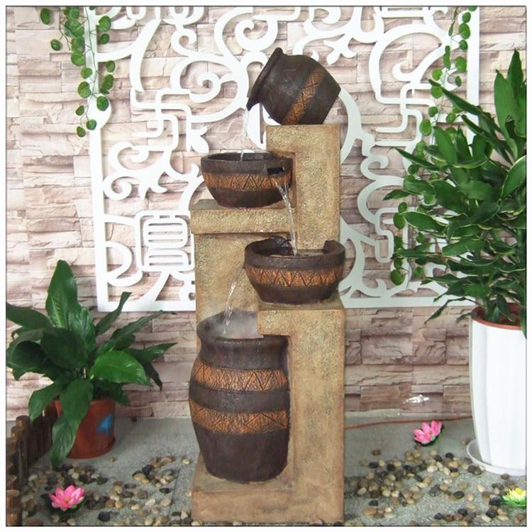 Free shipping european resin ornaments creative interior - Fuente decoracion interior ...