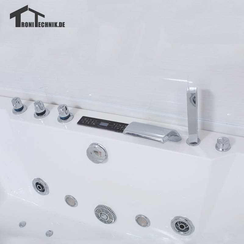 1700mm Whirlpool Bath Shower Air Massage freestanding Bathtubs ...