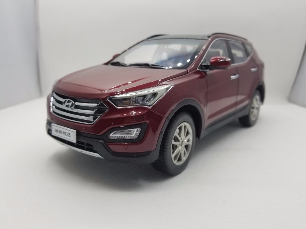 1:18 Diecast Model for Hyundai Santafe Red Rare Alloy Toy Car Miniature Collection Gifts Santa Fe rare gemini jets 1 72 cessna 172 n53417 sporty s flight school alloy aircraft model collection model