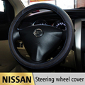 Leather Car Styling Steering Wheel Cover For Nissan Altima Qashqai X-Trail Tiida Almera Juke Note Primera Teana Auto Accessories