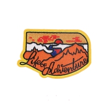 Custom Embroidery Patch Mountain Made Park Hiking Souvenir Travel Embroidered Iron / Sew-on Logo Patches