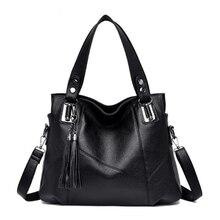 Women Messenger Bags With Tassel Large Capacity Women Bag Shoulder Tote Bags Famous Designers PU Leather Handbags Bolsa Feminina цены онлайн