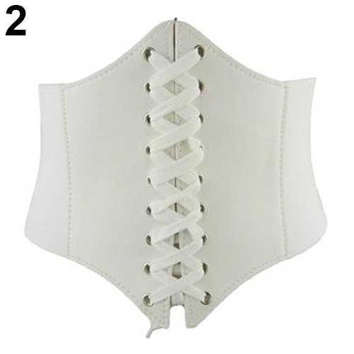 Сексуальные винтажные широкие из искусственной кожи шнуровка Пояс для похудения Корректирующее белье корсет для тела
