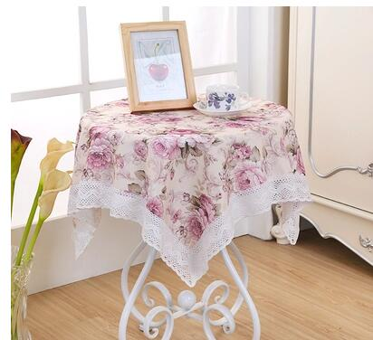 Exquisite Cloth Cloth Printed Cloth Round Coffee Garden Party Small Square Tablecloth  Lace Tablecloth(China