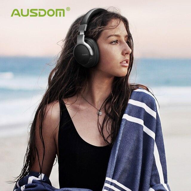 Ausdom ANC8 Attiva del Rumore di trasporto Che Annulla Le Cuffie 20H tempo di Gioco Senza Fili di Bluetooth Hifi Super Bass di Viaggio Auricolari Con Custodia da trasporto