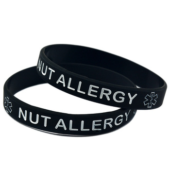 1PC Alert Nut Allergy Silicone Wristband for Daily Reminder 1