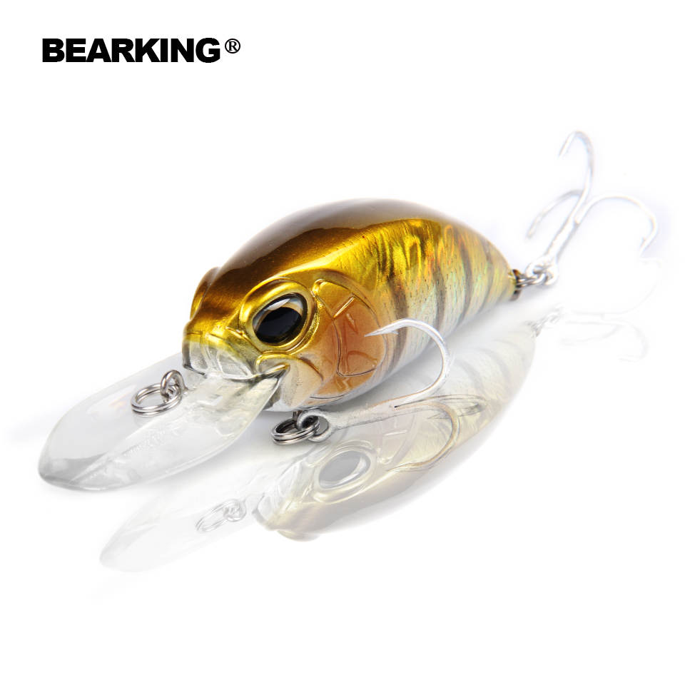 Retail hot model A+ fishing lure BearKing new crank 65mm&16g 5color for choose dive 10-12ft, 2.8-3.2m fishing tackle hard bait