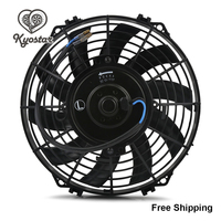 9 10 12 Inch Universal Slim Fan Radiator Pull Push Racing Car S Blades Electric Engine Intake Cooling Fan Of 12V 80W