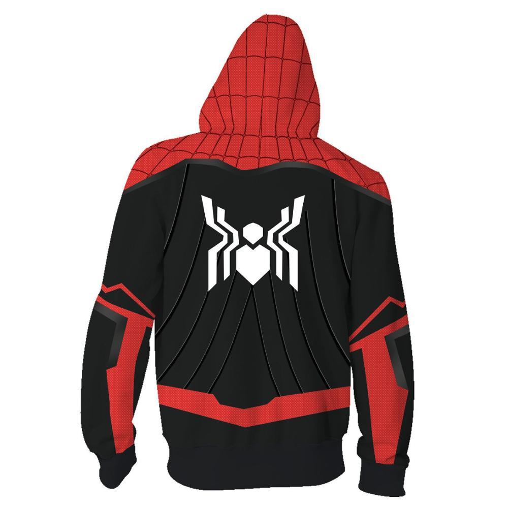 Yeahdor Kids Girls Halloween Spider Hero Cosplay Costume 3D Printed Hoodie Sweatshirts Hooded Coat