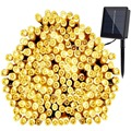 72ft 200 LED 8 Modos de Luzes Da Corda solares Solar Branco Estrelado Fada Seqüência das Luzes de Natal Decoração Ao Ar Livre Movido A Energia Solar À Prova D' Água