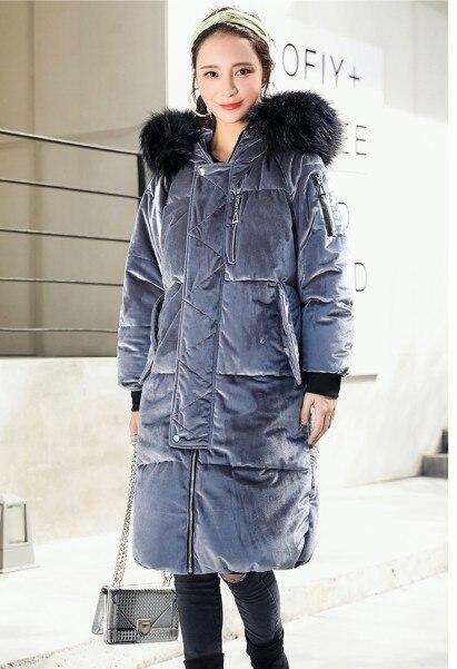 Produits Veste Usine Gris vent De D'hiver Pleuche 2017 Parkas Manteaux rose Femmes Coupe Longue Super Brun Nouveaux Bleu Bleu Rose marron Thicked Chaud gris dzEwqI