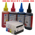 HP950 950 951 XL Refillable ink cartridge for HP Officejet Pro 8100 8600 8630 8610 8620 8680 8615 8625  + for hp Dey ink 400ML