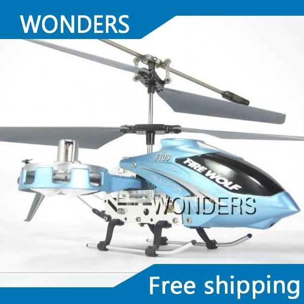 4 канальный инфракрасный металл сторона летать F103 обновленная версия F103b гироскопа мини-вертолет красный и синий