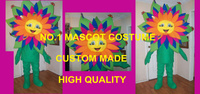 Pretty Flower Mascot Costume With Butterflys Adult High Quality Custom Garden Flower Theme Cosply Mascotte Fancy
