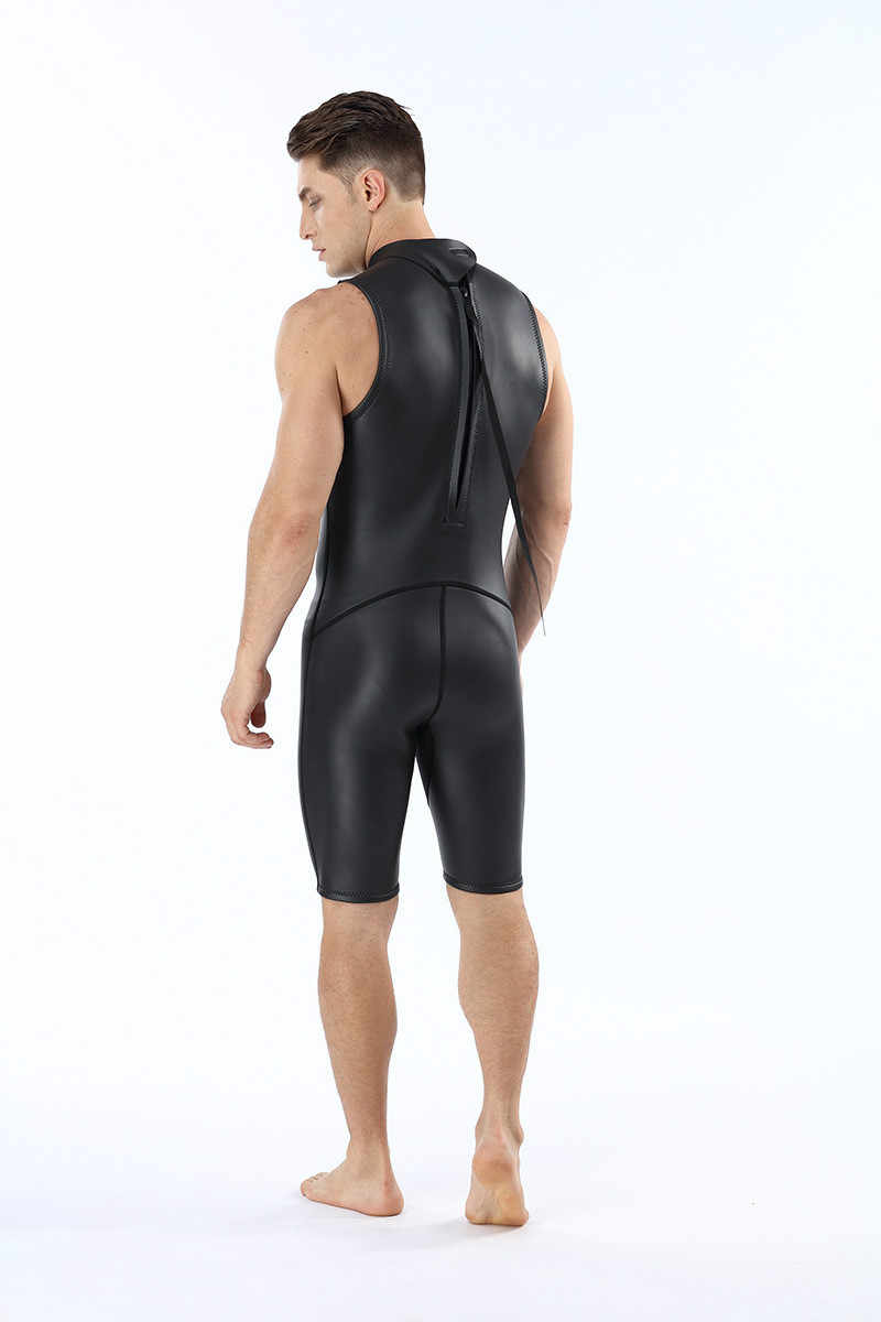 239903c005 Mens Triathlon Wetsuit 2MM CR Short Sleeveless One Piece Smooth Skin  Wetsuits Ultra Elastic Diving Suit