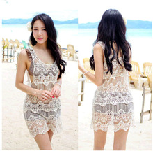 HOT fashion high quality women Vest mesh lace woman tank tops hollow out woman camis embroidery