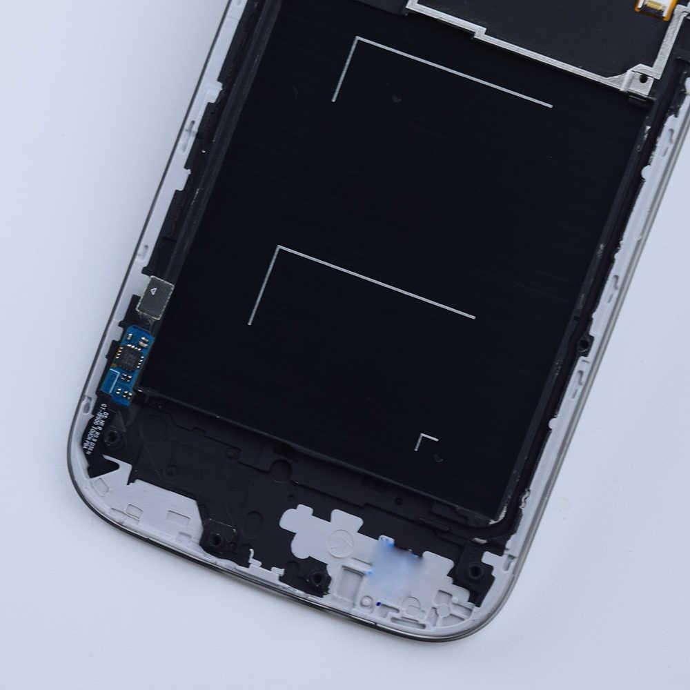 شاشة الكريستال السائل لسامسونج غالاكسي S4 i9500 لوح مستشعر شاشة تعمل باللمس الجمعية الإطار لسامسونج i9505 i337 919 720T L720