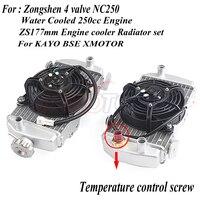 Zongshen 4 клапана NC250 с водяным охлаждением 250cc двигателя радиатор xmotos apollo воды коробка с Вентилятор Аксессуары Для КАЙО БФБ мотоцикл