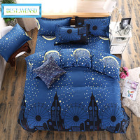 BEST.WENSD high quality king queen Single size meteor shower bedclothes Duvet cover comforter bedding sets edredons bedspread