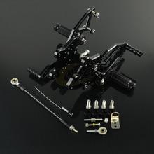 CNC регулируемые мотоциклетные заготовки подножки педали отдых подножки Rearset для KAWASAKI NINJA300 NINJA 300 2013