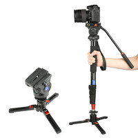FANSHANG FA 18 73 Hydraulic head Tripods Flip lock Video Monopod Aluminum Professional Tripod Stand for camera Camcorder DSLR
