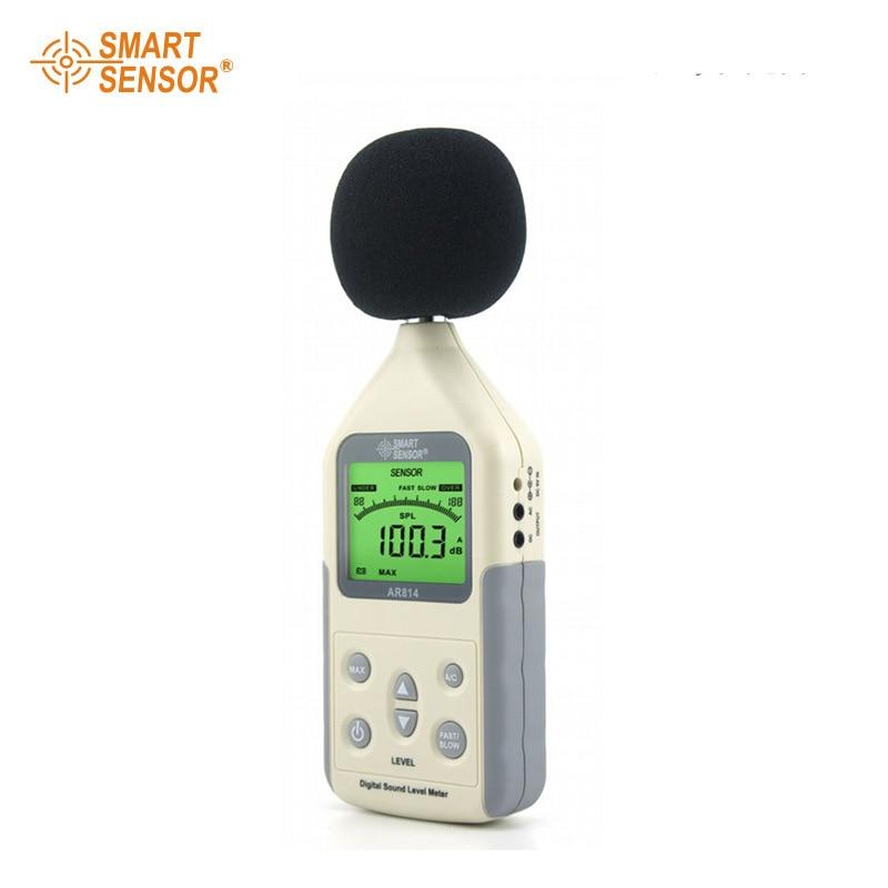 Digital Sound Level Meter AR814 Measuring Range 30~130dB 35~130 dBC  Noise Level Meter Tester Decibel Meter ar814 30 130 dba 35 130 dbc digital decibel meter