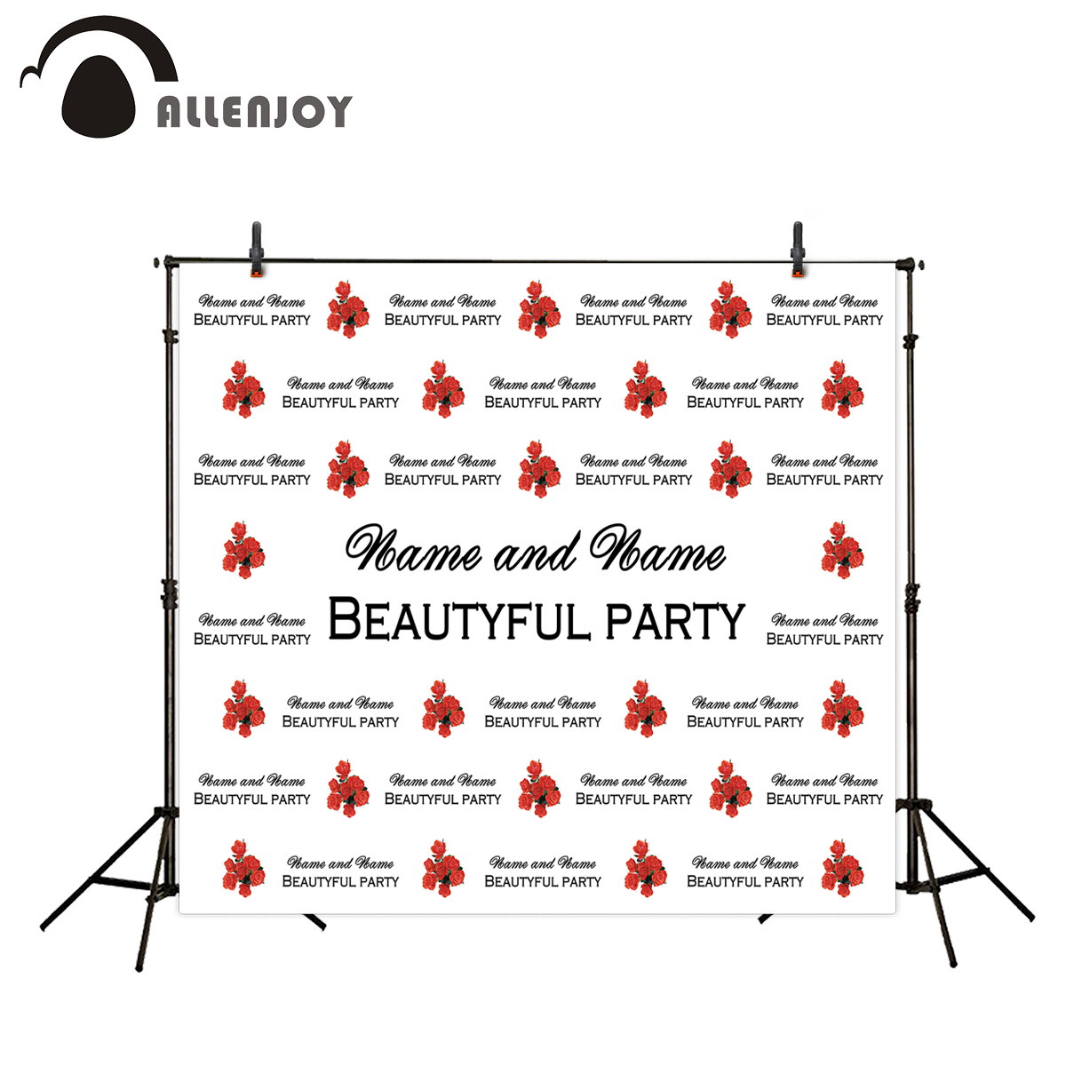 Allenjoy party backdrop Roses step and repeat wedding birthday custom photography backgrounds for wedding photo backdrop