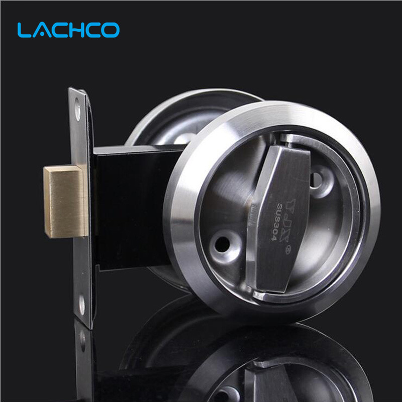 цена на Meticulous Sliding Door Lock Interior Bathroom and Lavatory Lock Hook Invisible Move Door Lockset DL17005