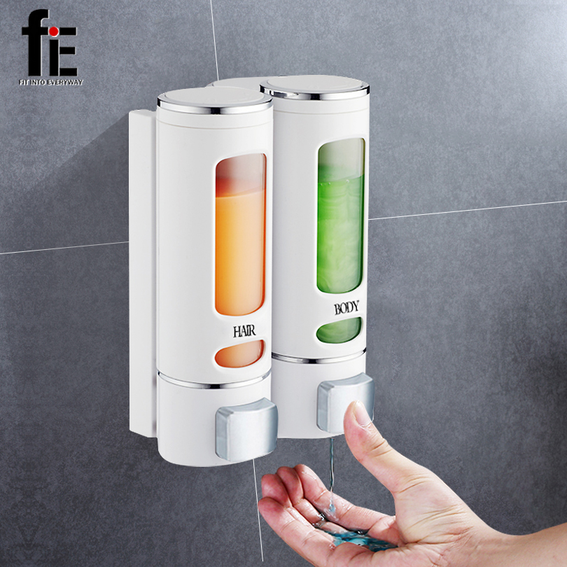 FiE 400 ml Seife Dispenser Wand Montieren Dusche Bad Shampoo Dispenser Seife Container Waschraum Zubehör