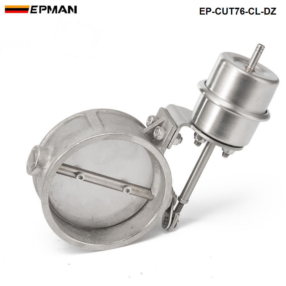 """Выпускной контрольный клапан набор выреза """" 76 мм Труба закрытый стиль с вакуумным приводом с беспроводным пультом дистанционного управления набор EP-CUT76-CL-DZ"""